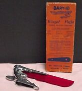 Car Mascot [ Winged Flight ] 1937-1948 { Unused } Chrome [ Red Lucite ] { Boxed}