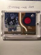 Ud 2005-06 Oldtimers Challenge Sp Game Used Doug Gilmour /10 Autographed,patch