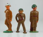 3 Antique Vintage Barclay Manoil Lead Army Soldier Toys 707 93 Etc.