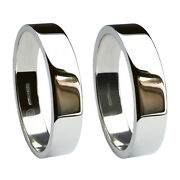 6mm 18ct White Gold Flat Profile Wedding Rings Uk Hm Heavy And Extra Heavy Bands