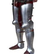 Medieval Knight Leg Protection Collectibles Armor Steel Plates Reproduction 18g