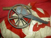 Extremely Rare Antique Schoenhut Wood Civil War Cannon Toy All Orig. Excellent