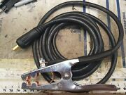 12 Ft. 300a Mig Tig Ground Clamp 1/2 35-50 Twist Type Fits Miller Lincoln Twist