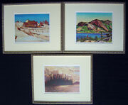 Group Of Seven A. Y. Jackson F. Carmichael And Lawren Harris In Gold Frames