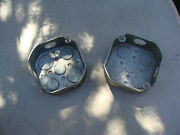 Lot Of 2 - Metal Electrical Enclosure Box For Plug Outlet