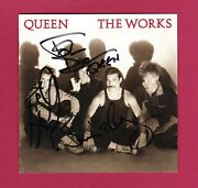 Brian May Roger Taylor And John Deacon Autographs Queen Hand Signed Cd