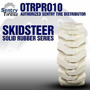 12x16.5 Non-marking Solid Skid Steer Tires 2 Tires W/ Wheels 33x12-20 12-16.5