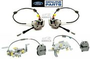 Ford Oem 97-04 F-series Rear Rh And Lh Upper And Lower Door Lock Latch W/ Cables Set