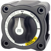 Blue Sea Systems 6011200 M-series Battery Switch Dual Circuit Plus Black