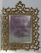 Antique Ornate Mirrow Or Picture Frame 17.5 By 13 3/8