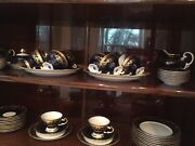 Weimar Katharina Cobalt Tea /coffee Set For 12 Andnbspwith Serving Plates. 53 Pc.