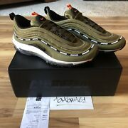 Undefeated Nike Air Max 97 Sz 10 Complexcon Olive Box Logo Virgil Abloh Undftd