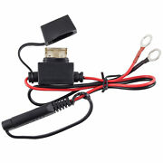 Charger Cable Adapter Plug Motorcycle Battery Terminal Quick Connect Fused