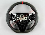 Carbon Steering Wheel Brabus Style Mercedes-benz Smart Shift Pedals Oem Leather