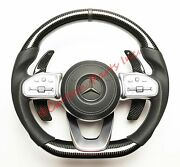 W464 W463a Carbon Fiber Steering Wheel Mercedes-benz G-class Oem Leather 2019up