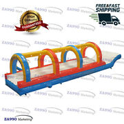 33x7.5ft Commercial Inflatable Single Lane Slip N Slide Water With Air Blower