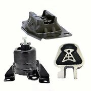 3pc Engine And Transmission Mount For 2013-2015 Ford Fusion 2.5l Fast Free Ship