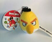 Angry Birds Backpack Clips Keychain Yellow Bird Plush Toy