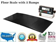 Smart Ready Floor Scale With 2 Ramps 10000 Lbs X 1 Lb 48andrdquo X 72andrdquo 4andrsquo X 6andrsquo
