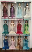 Glamorous Birthstone Barbie Collection Dolls. Lot Of 12