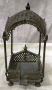 Vintage Brass Net Cutting Design Temple Collectible Home Decorative Item India
