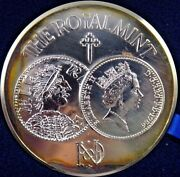 1986 Uk Special Limited Edition Silver Medal Box Coa 1100 Years In Minting