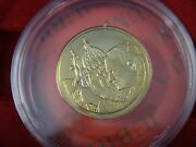 Italy Pope Christus Iubilaeum A.d.2000 Jubilee Medal Coin 18 Kt Gold