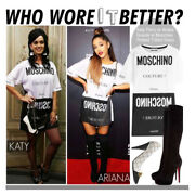 Moschino Couture Resort 2016 T-shirt Dress Size 42 Katy Perry And Ariana Grande