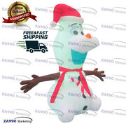 6.6ft Inflatable Snow Man Christmas Decorations Led Lights With Air Blower