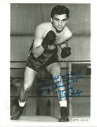 Autographed Photo Petey Scalzo World Featherweight Champion 1940