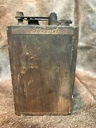 Antique Model T Ford Ignition Coil Dove Tailed Wooden Case Box.ford Engraved