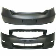 Front And Rear Primered Bumper Cover Fits Honda Accord Coupe Ho1000256 Ho1100247