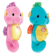 Fisher Price Soothe And Glow Seahorse Baby Toy Soothing Music For Babies Pink Blue