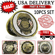 10 Pc St Michael Police Officer Badge Law Enforcement Challenge Collectible Coin