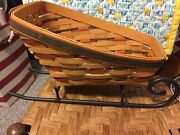 Longaberger Basket - Large Holiday Sleigh With Runners - 1997