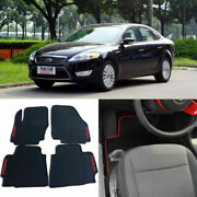 Full Set All Weather Heavy Duty Black Rubber Floor Mats For Ford Mondeo