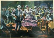 Wichie Torres Signed And Numbered Serigraph Bombareyto Puerto Rico Art