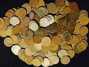 Lot Of 250 Coins Mixed Indian Head Cent Pennies In Average Circ. 1800and039s / 1900and039s