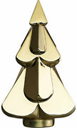 Baccarat Crystal Noel Snowy Christmas Tree - Metallic Gold With Red Box Set