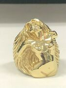 New 10kt 14kt 925 Silver Lady With Long Hair / Large Heavy Detailed Jewelry Art