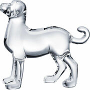 Baccarat Crystal Zodiac Dog - Clear Brand New In Red Baccarat Box