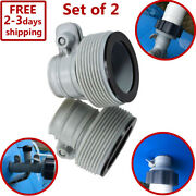 Replacement Hose Adapter 2 Set Pool Filter Pump Parts Conversion Kit Fitting New