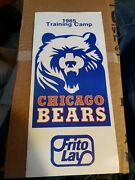 1985 Chicago Bears Training Camp Roster/schedule-rare/great Condition