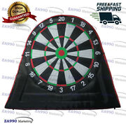 10ft Inflatable Dart Board Golf Foot Game 5 Balls Soccer Kick With Air Blower