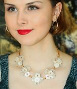 Kate Spade New York 'crystal Corsage' Cluster Mother Pearl Station Necklace