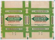 Antique Wrigley's Chewing Gum Box Wrapper Wax Paper Whole Sheet
