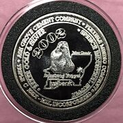 Miners Jubilee Armstrong Gold Nugget 1 Troy Oz .999 Fine Silver Round Proof Coin