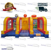 16x10ft Inflatable 3 In 1 Sport Games Arena For Play Carnival With Air Blower