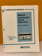 Hp / Agilent 08662-90031 Hp 8662a Synthesized Signal Generator Operating Manual