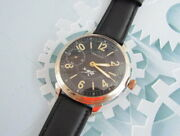 Hercules 1930-1940 Years Wwii Vintage Swiss For German Army Military Wristwatch
